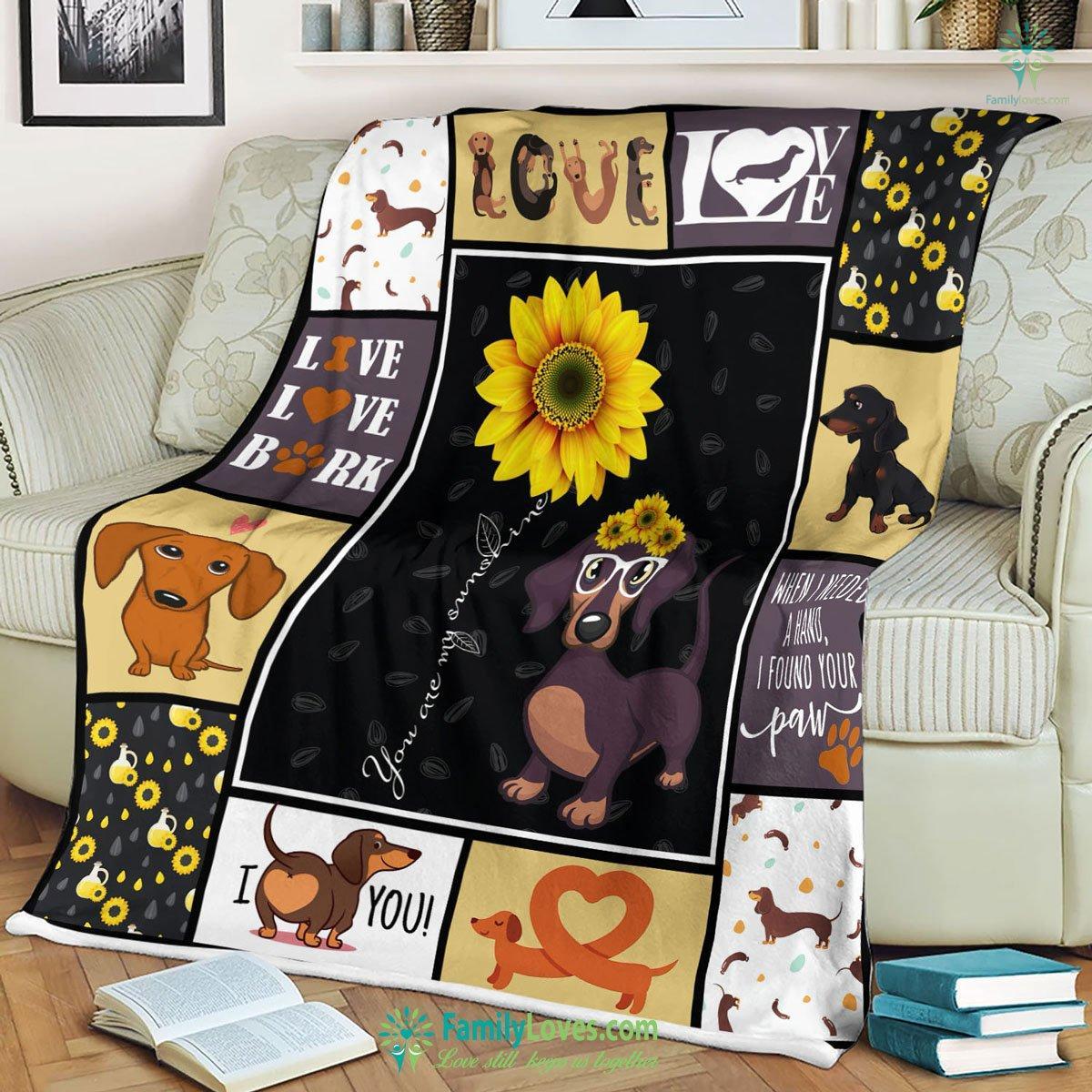 Dachshund Blanket 3 Familyloves.com
