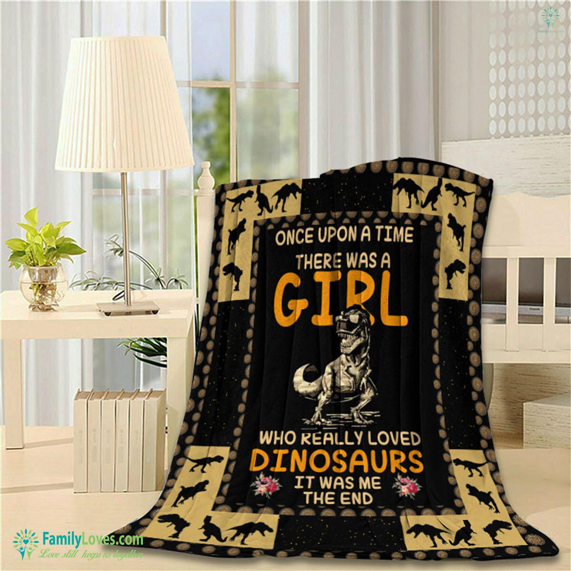Dinosaur Girl Blanket 7 Familyloves.com