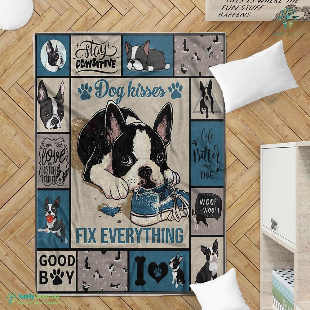 Dog Kisses Blanket 16 Familyloves.com