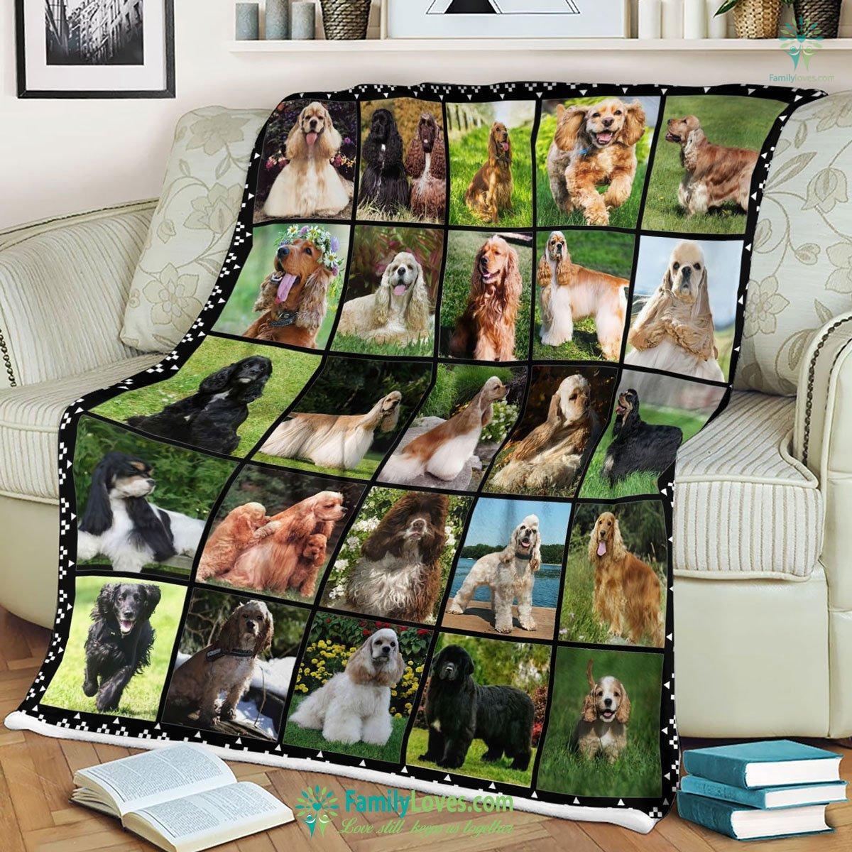 Dogs Blanket 20 Familyloves.com