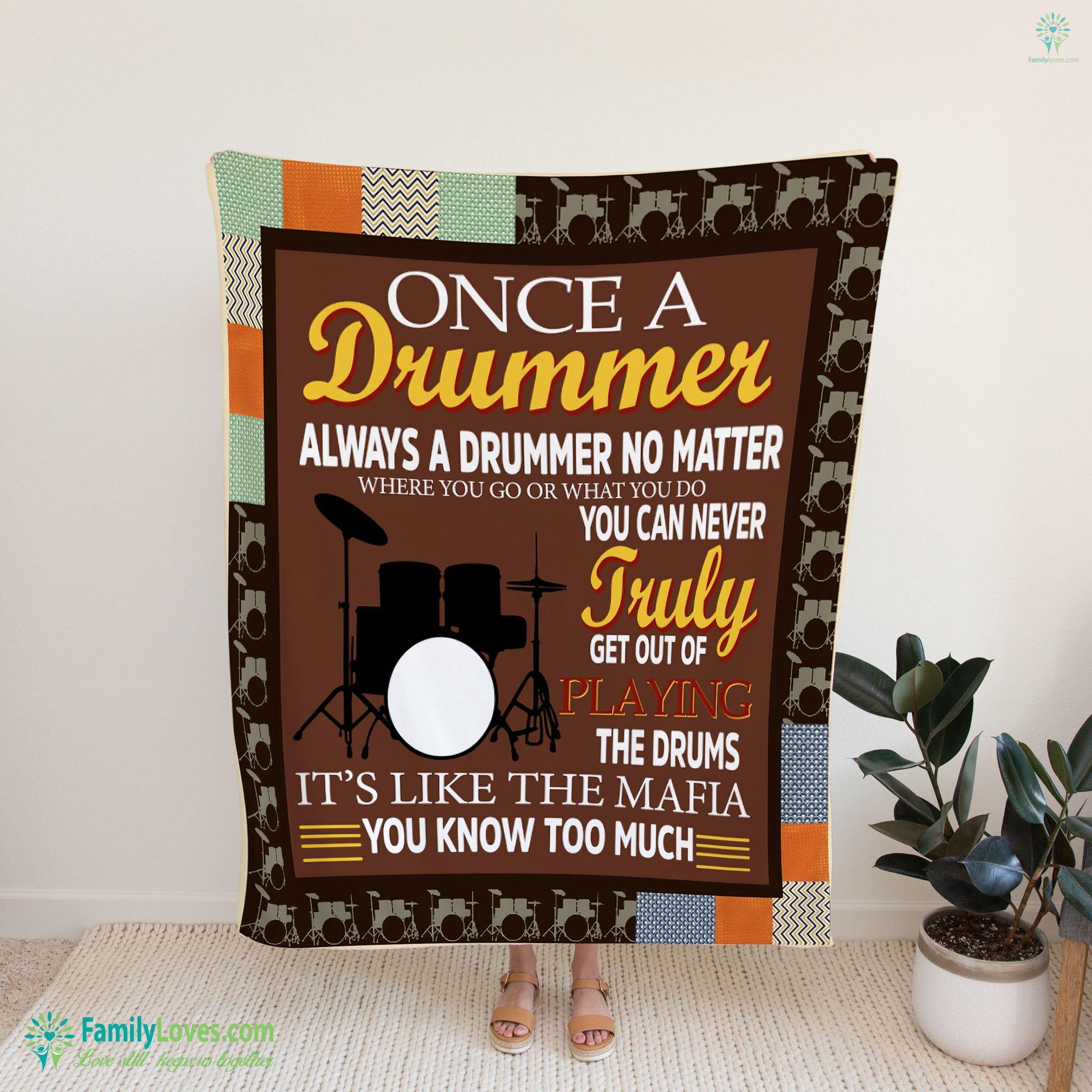 Drummer Blanket 13 Familyloves.com