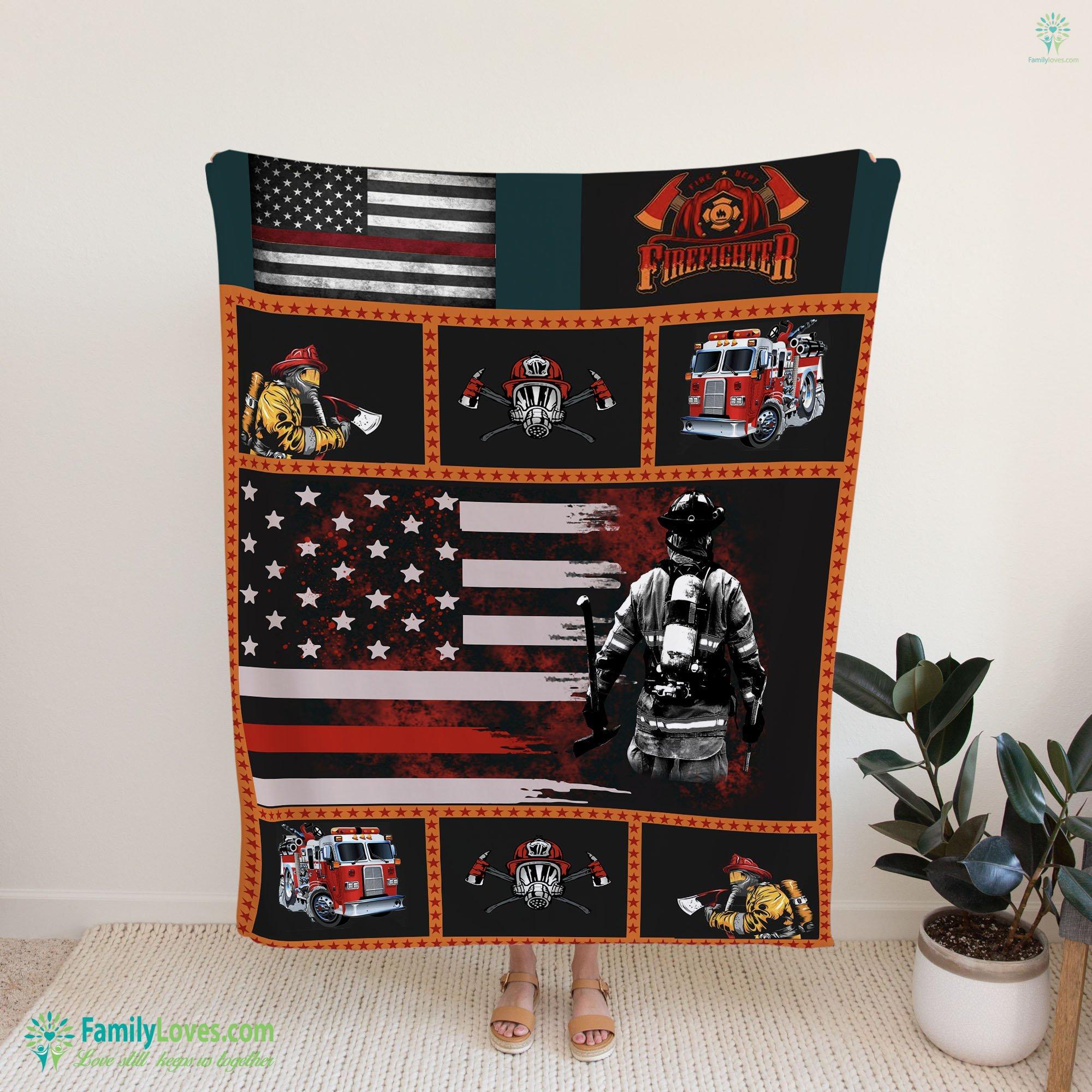 Firefighter Tool Usa Bed Set Blanket 14 Familyloves.com