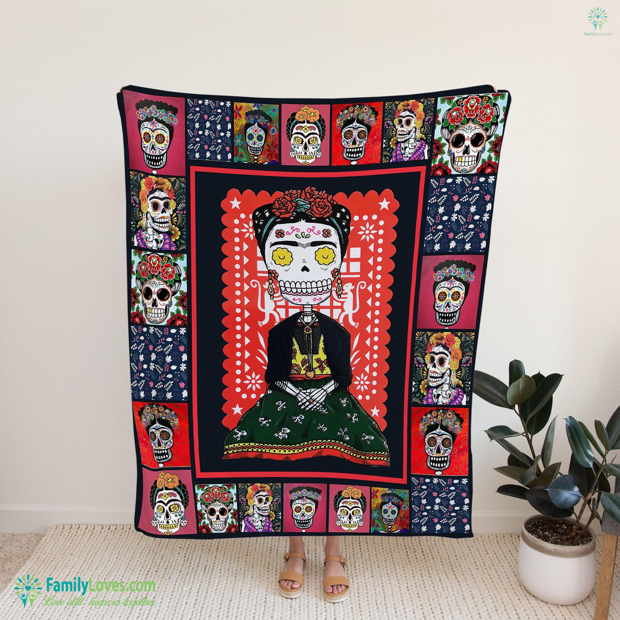 Frida Kahlo Blanket 19 Familyloves.com