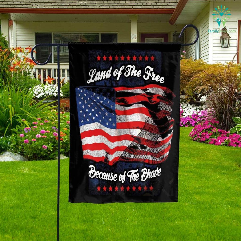 Veteran Land Of The Free Garden Flag Familyloves.com