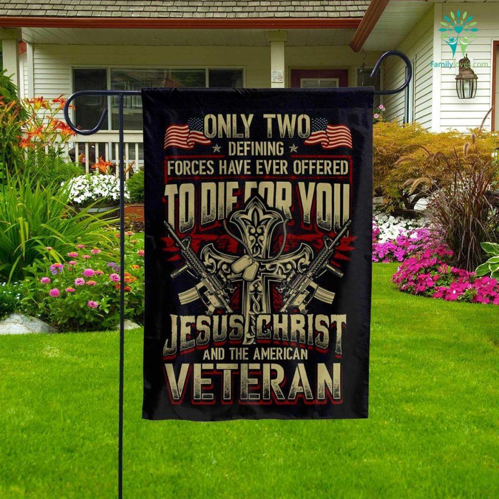 Veteran Defining Forces Garden Flag Familyloves.com