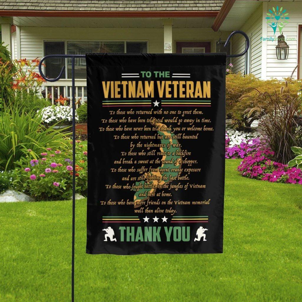 To The Vietnam Veteran Thank You Garden Flag Familyloves.com