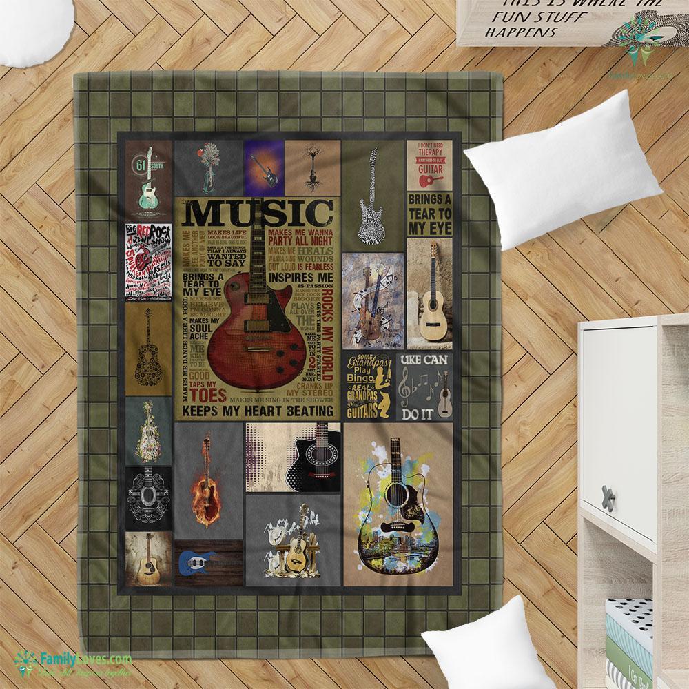 Guitar Music Copy Blanket 4 Familyloves.com