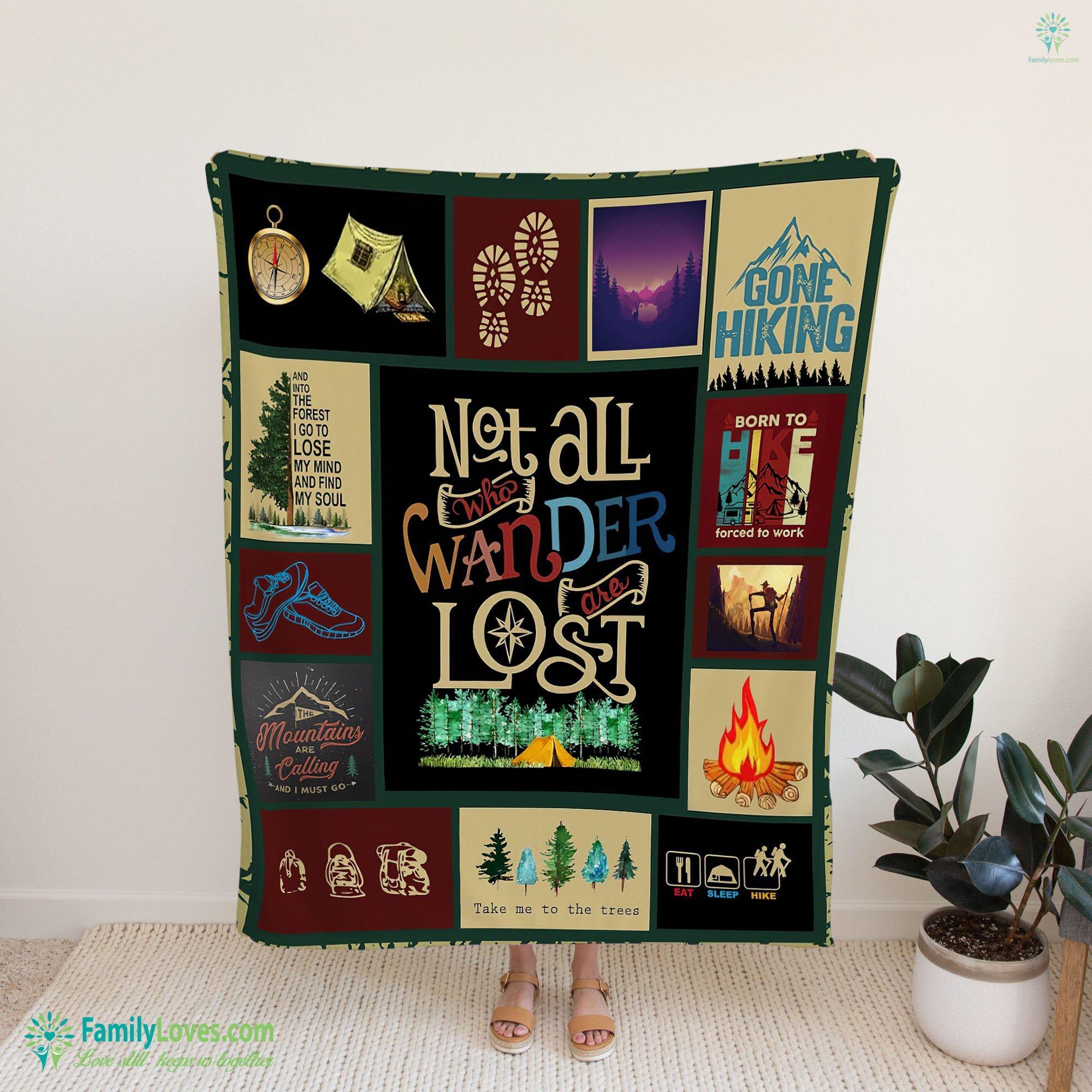 Hiking Wanderlust Td Blanket 15 Familyloves.com