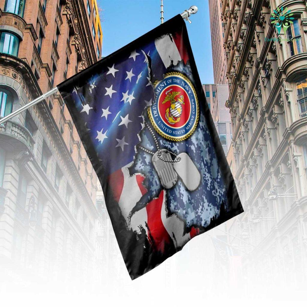 United States Marine House Flag Familyloves.com