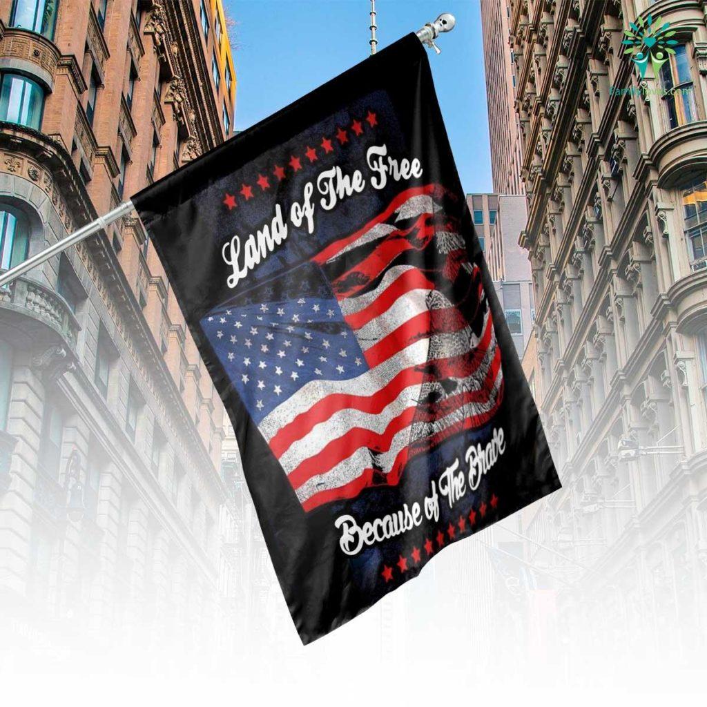 Veteran Land Of The Free House Flag Familyloves.com