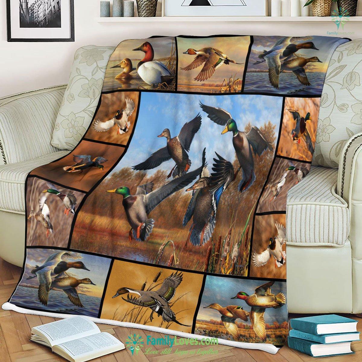 Hunting Duck Set Blanket 7 Familyloves.com