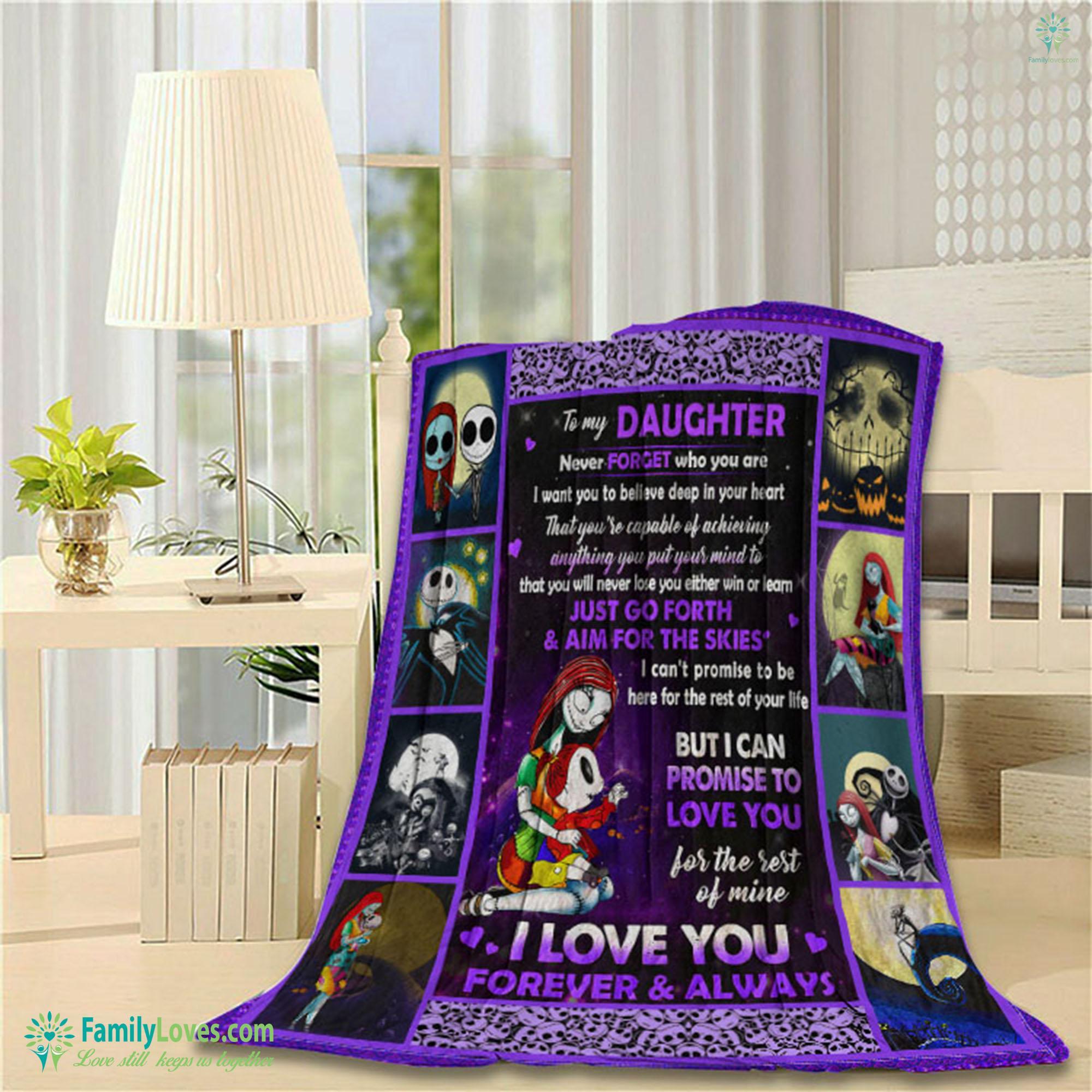 I Love You Forever Always Vv The Nightmare Before Christmas D Blanket 7 Familyloves.com