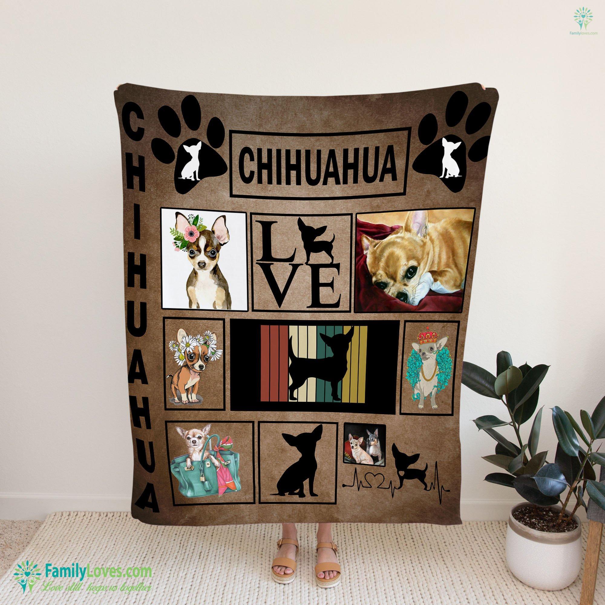 I Love My Chihuahua Blanket 9 Familyloves.com