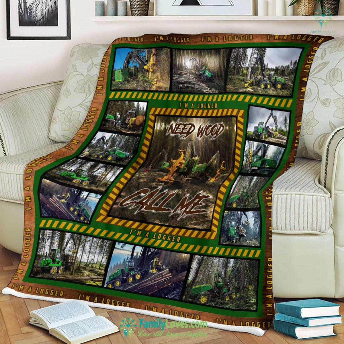 Jd Logging Like D Personalized Customized Design By Jersy.Us Blanket 16 Familyloves.com