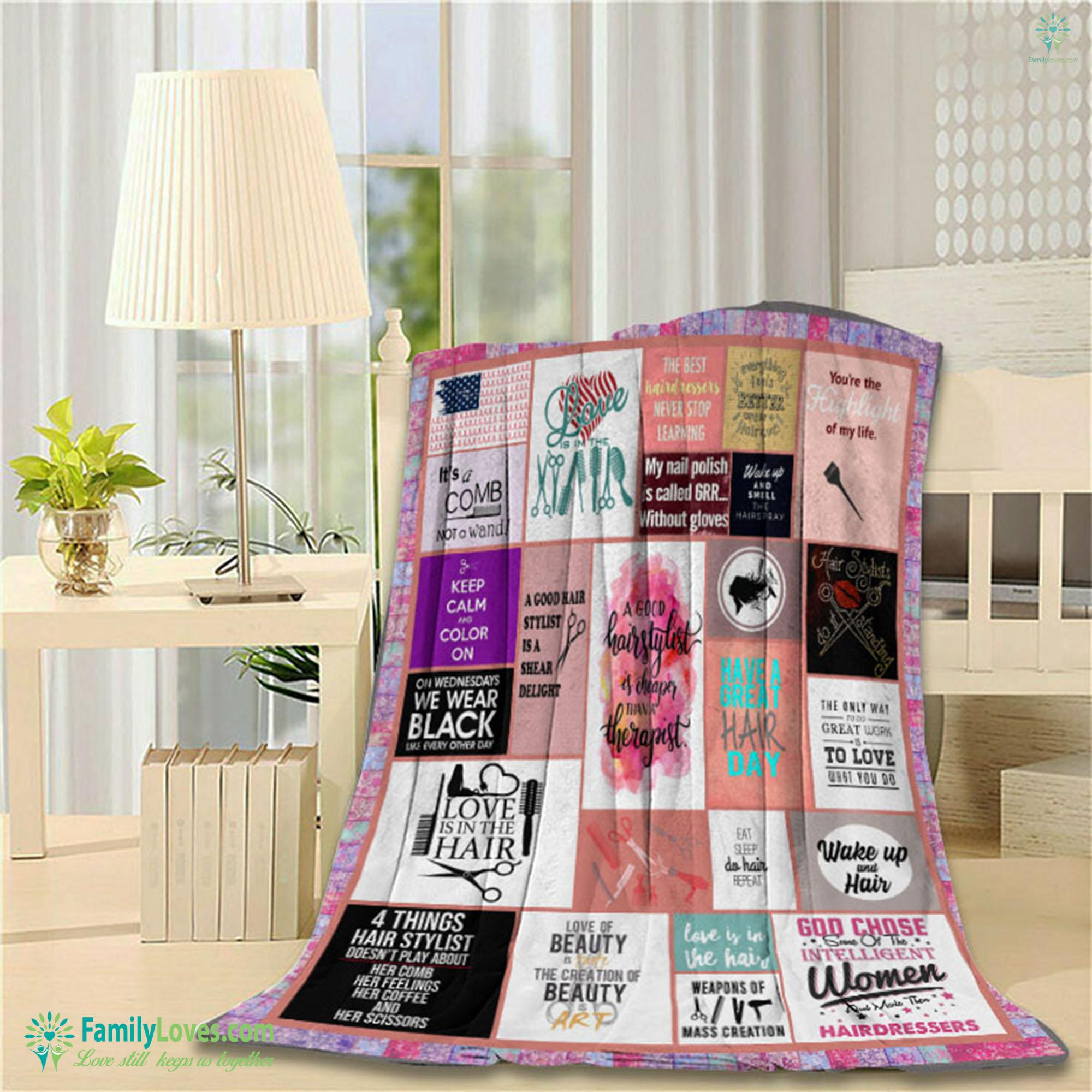 Limited Edition Hair Stylist M Blanket 12 Familyloves.com