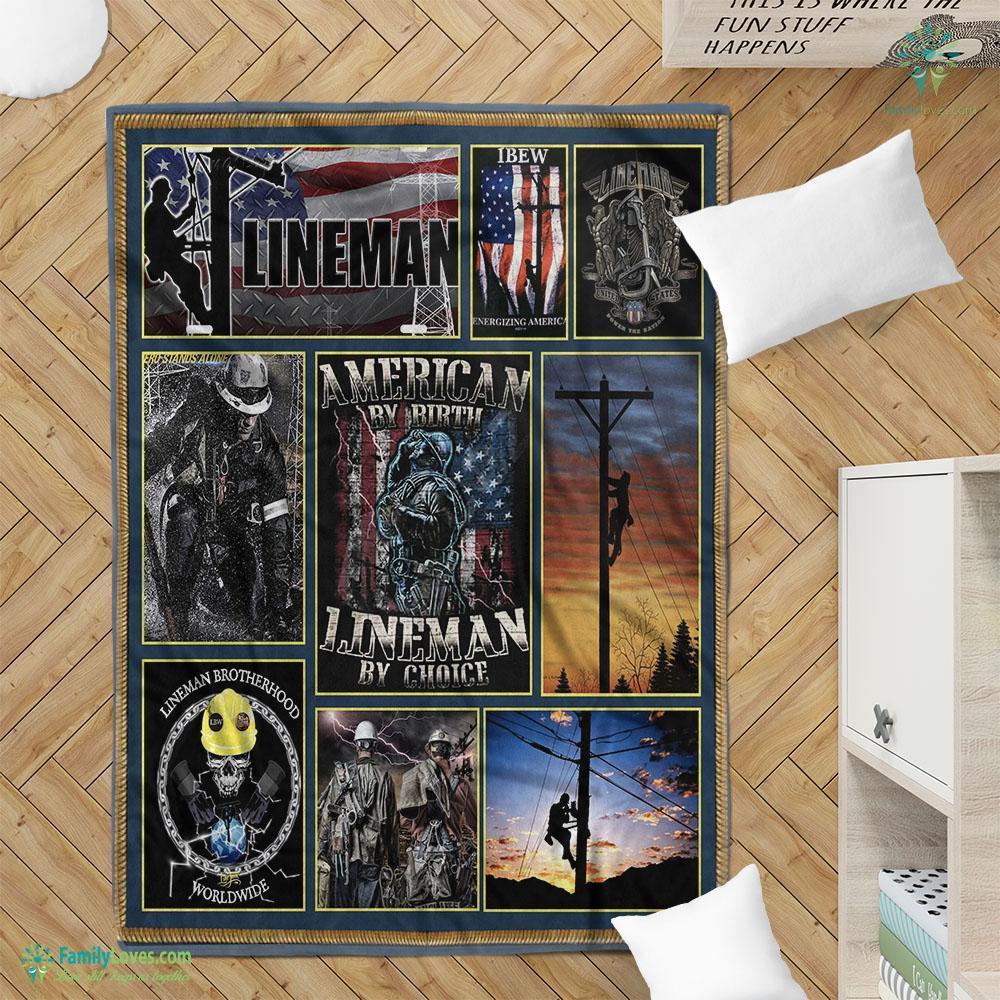 Limited Edition Lineman M 9 Blanket 4 Familyloves.com