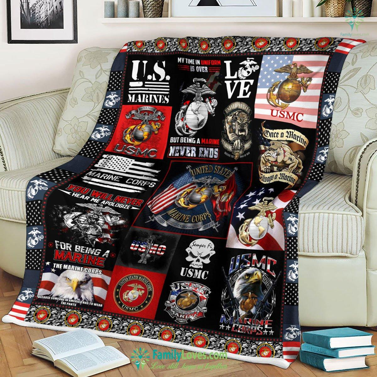 Limited Edition M Us Marines Corps Blanket 7 Familyloves.com