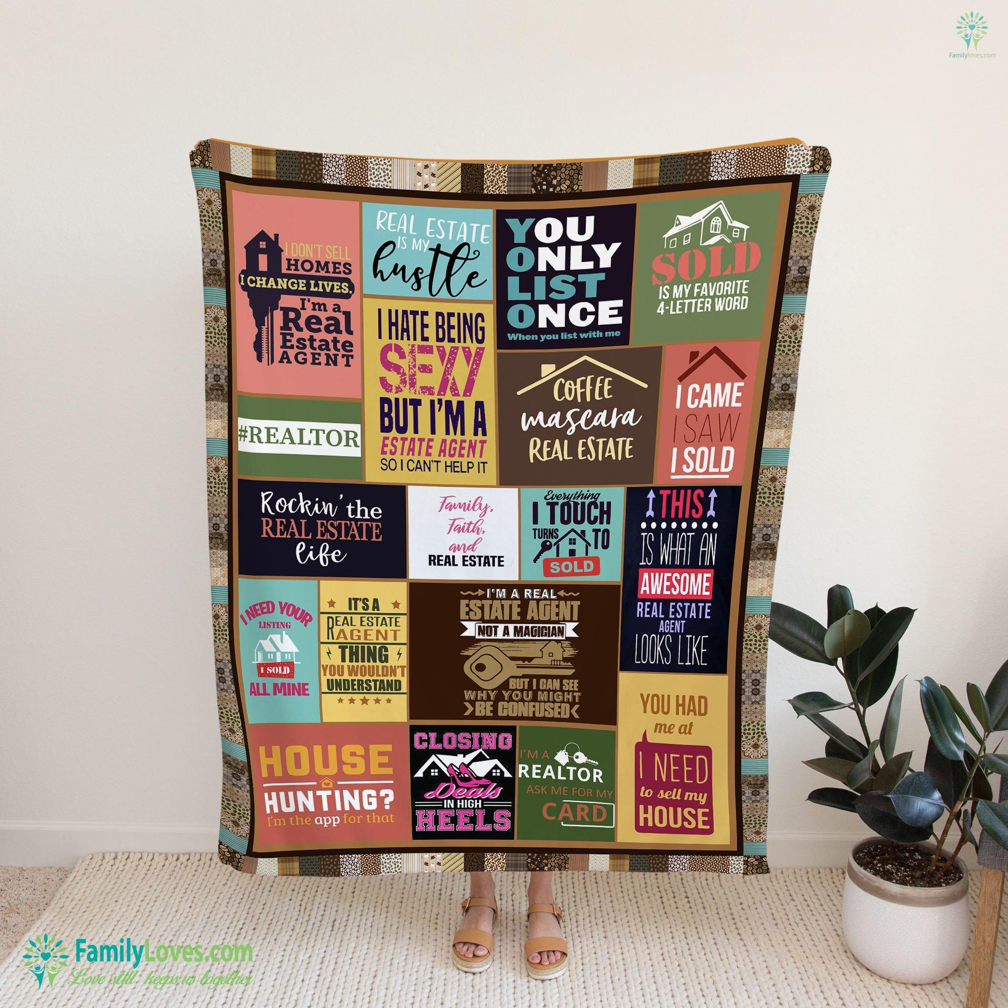 Limited Edition Real Estate M Blanket 15 Familyloves.com