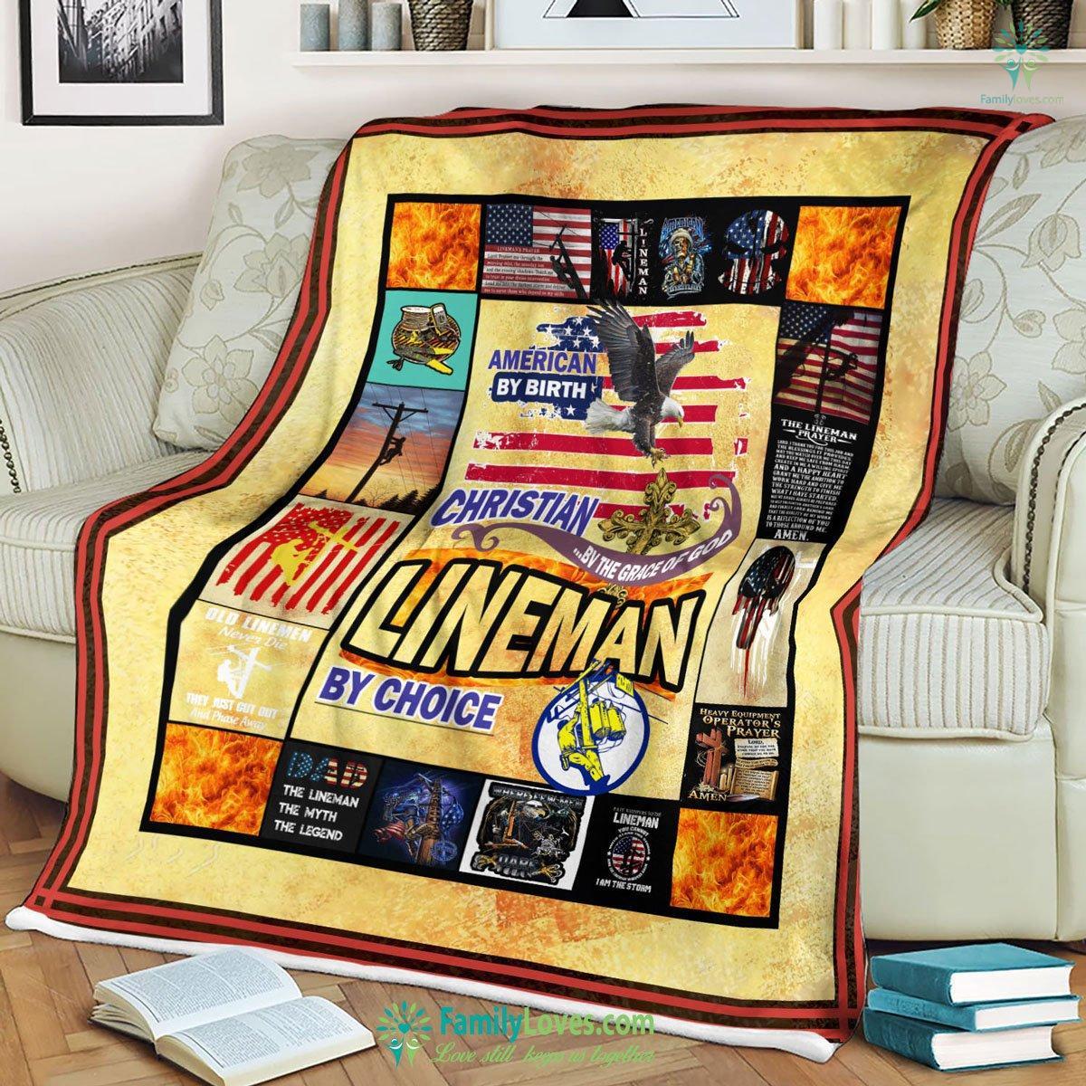 Lineman By Choice Like Lqb Dd Blanket 4 Familyloves.com