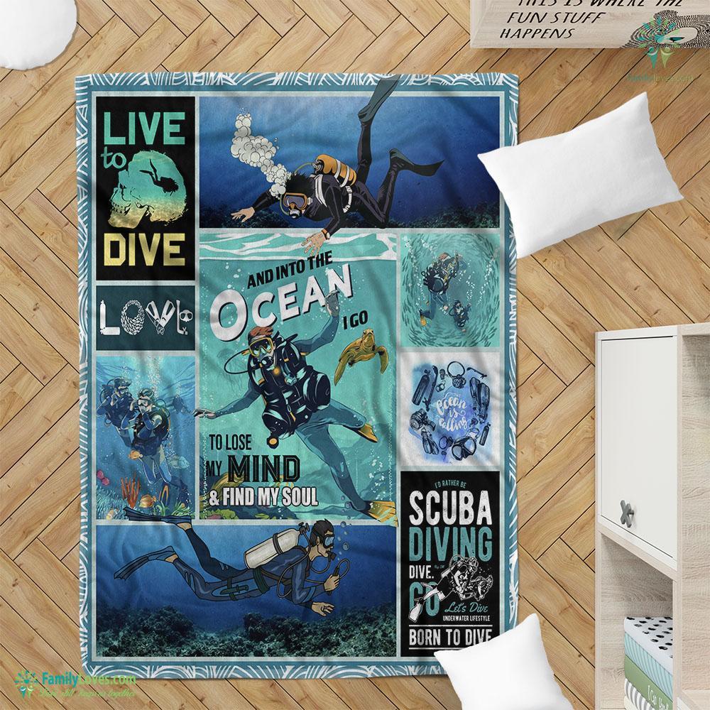 Live To Dive Blanket 15 Familyloves.com