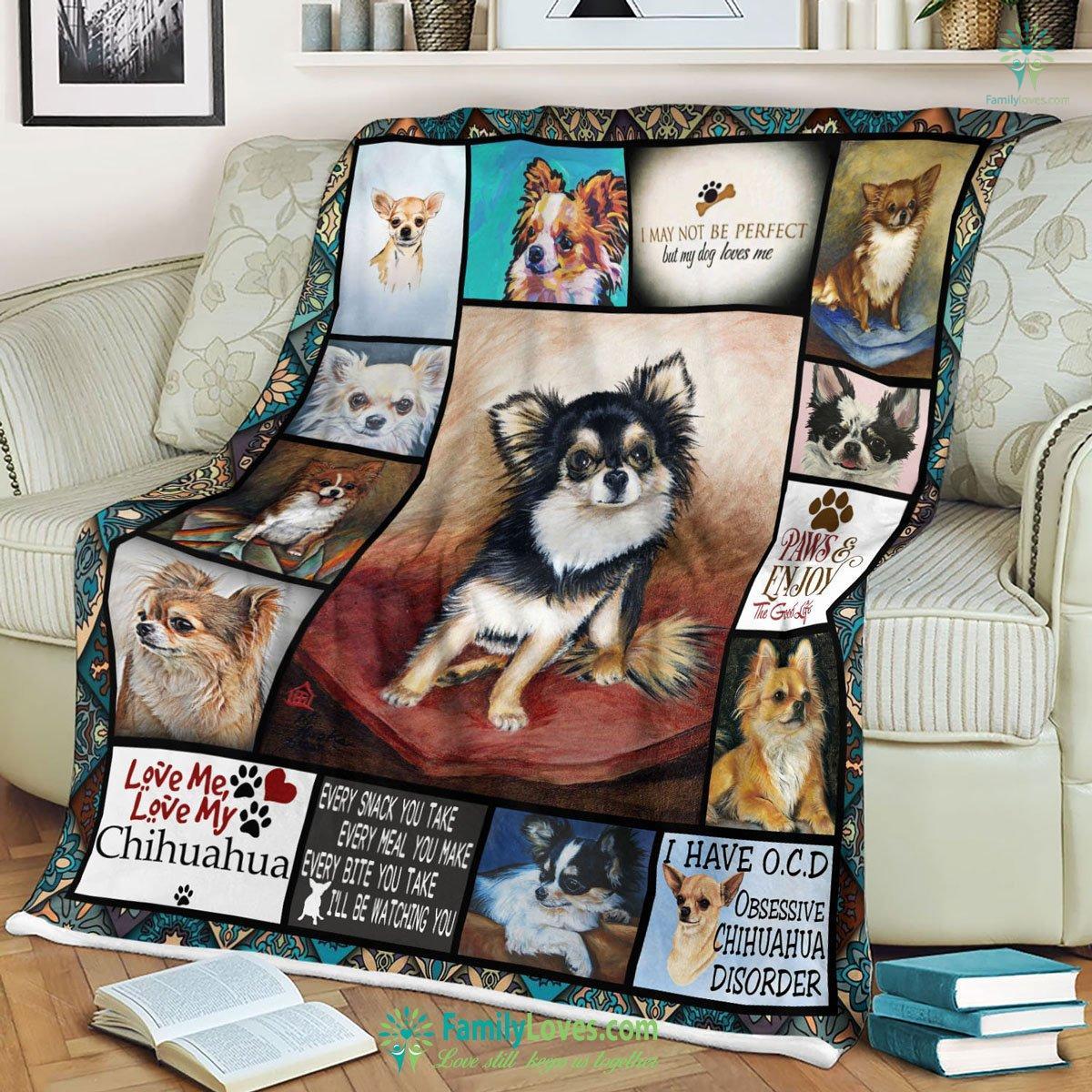 Love Me Love My Chihuahua Blanket 3 Familyloves.com