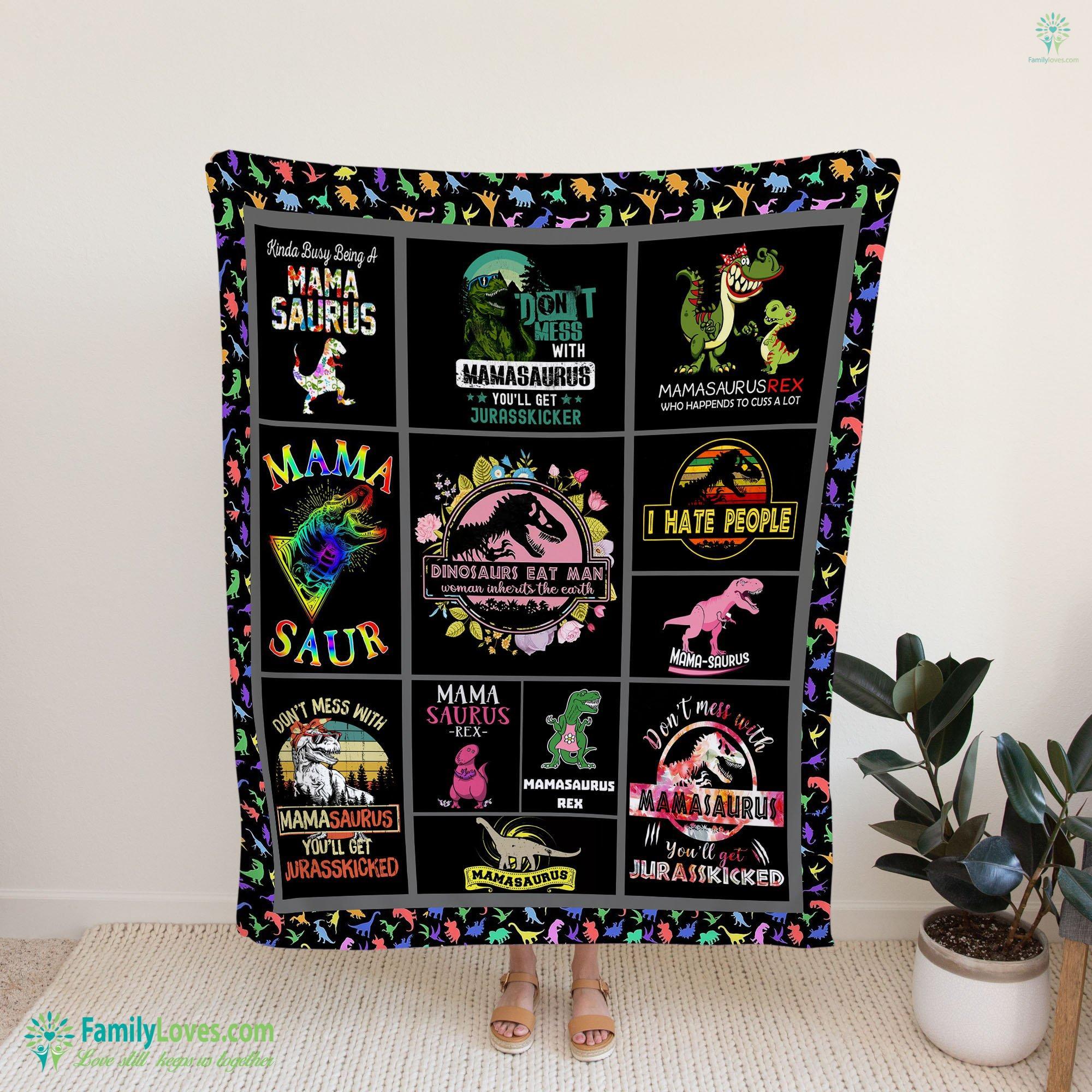 Mama Saurus Blanket 21 Familyloves.com