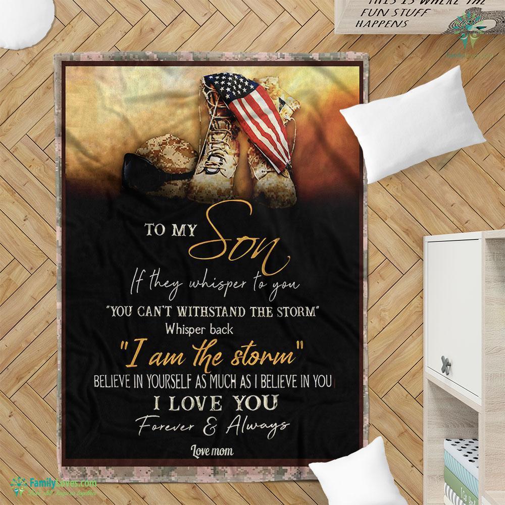 Marine To My Son I Love You Td Blanket 7 Familyloves.com