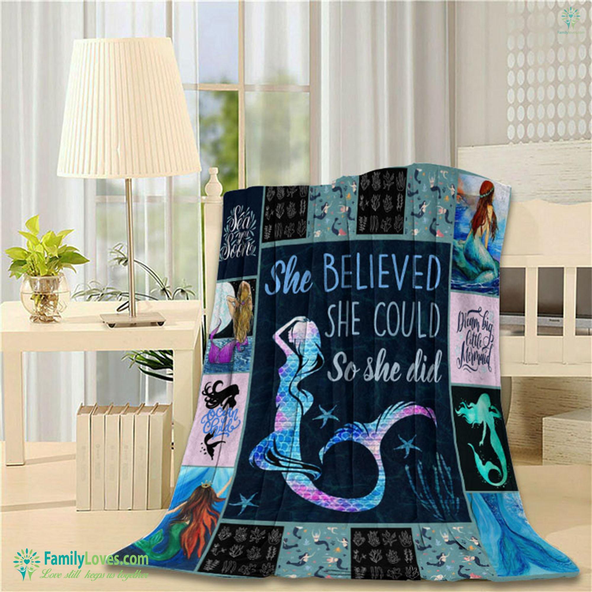 Mermaid Blanket 14 Familyloves.com