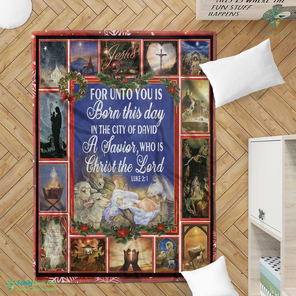 Merry Christmas And Happy Birthday Jesus Fleece Blanket 15 Familyloves.com
