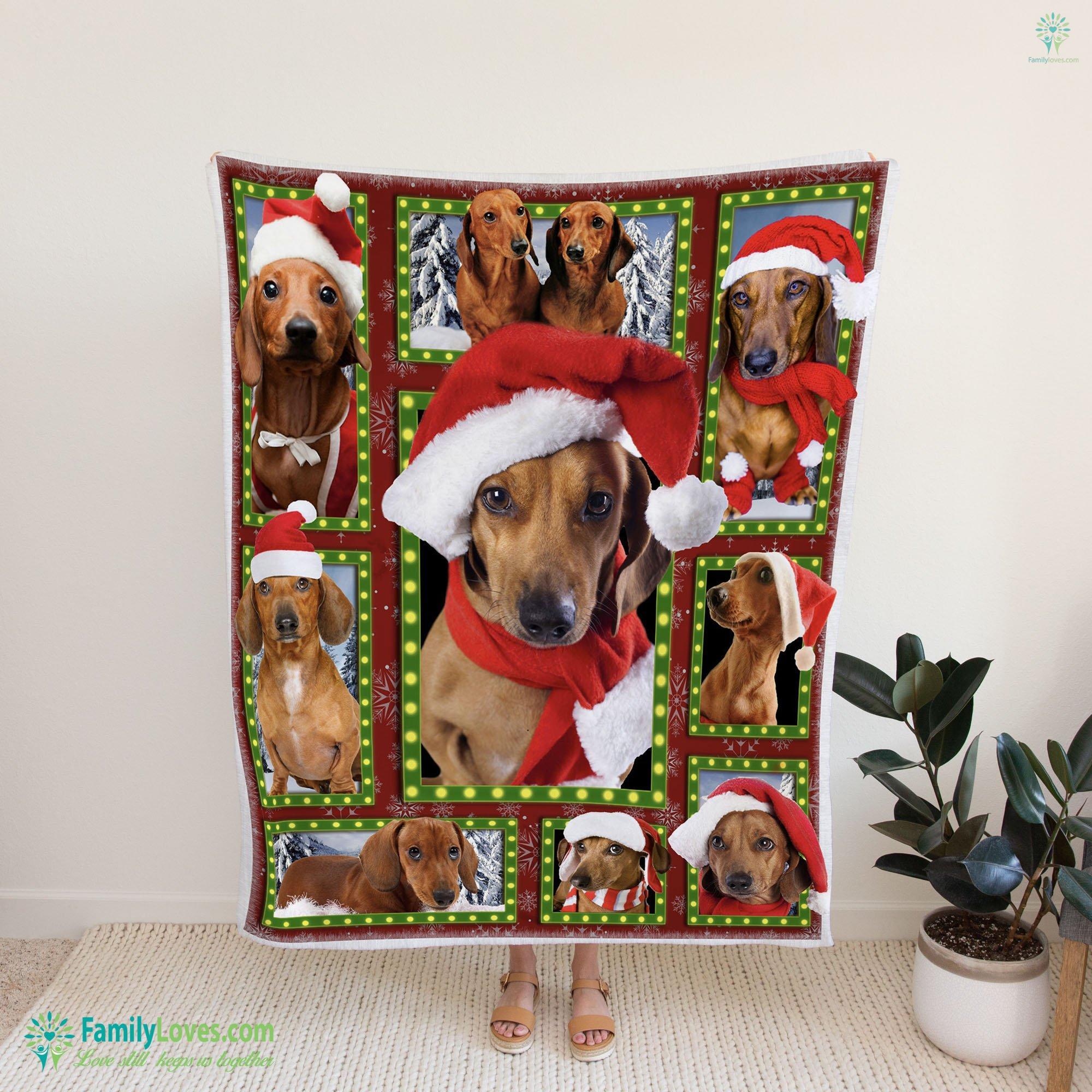 Merry Christmas Dog Bg Blanket 18 Familyloves.com