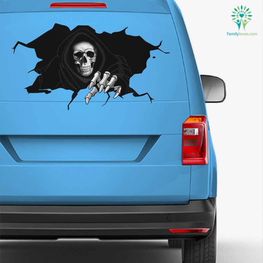 Happy Halloween Wall Floor Sticker Car Decal And Broken Car Window Sticker, Car Decal Stickers Familyloves.com