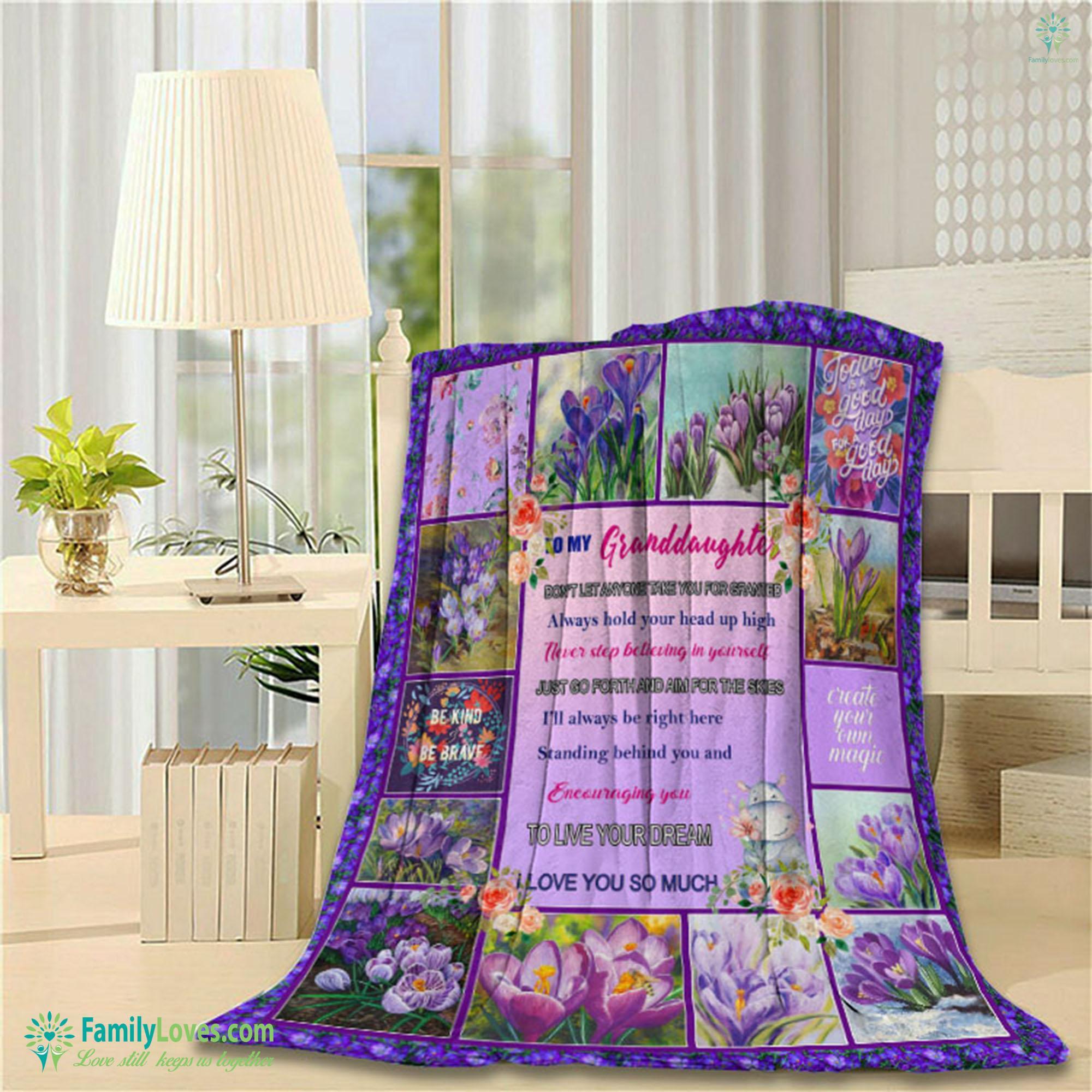 My Granddaughter Grandma Blanket 22 Familyloves.com