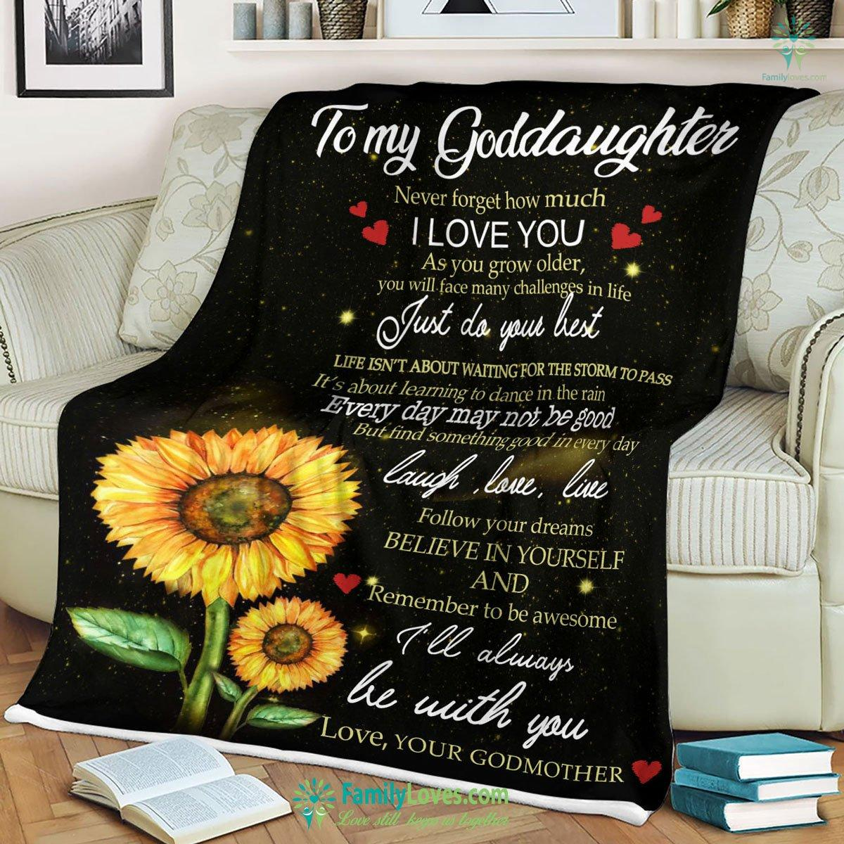 Pp Goddaughter Ill Always Be With You Blanket 19 Familyloves.com