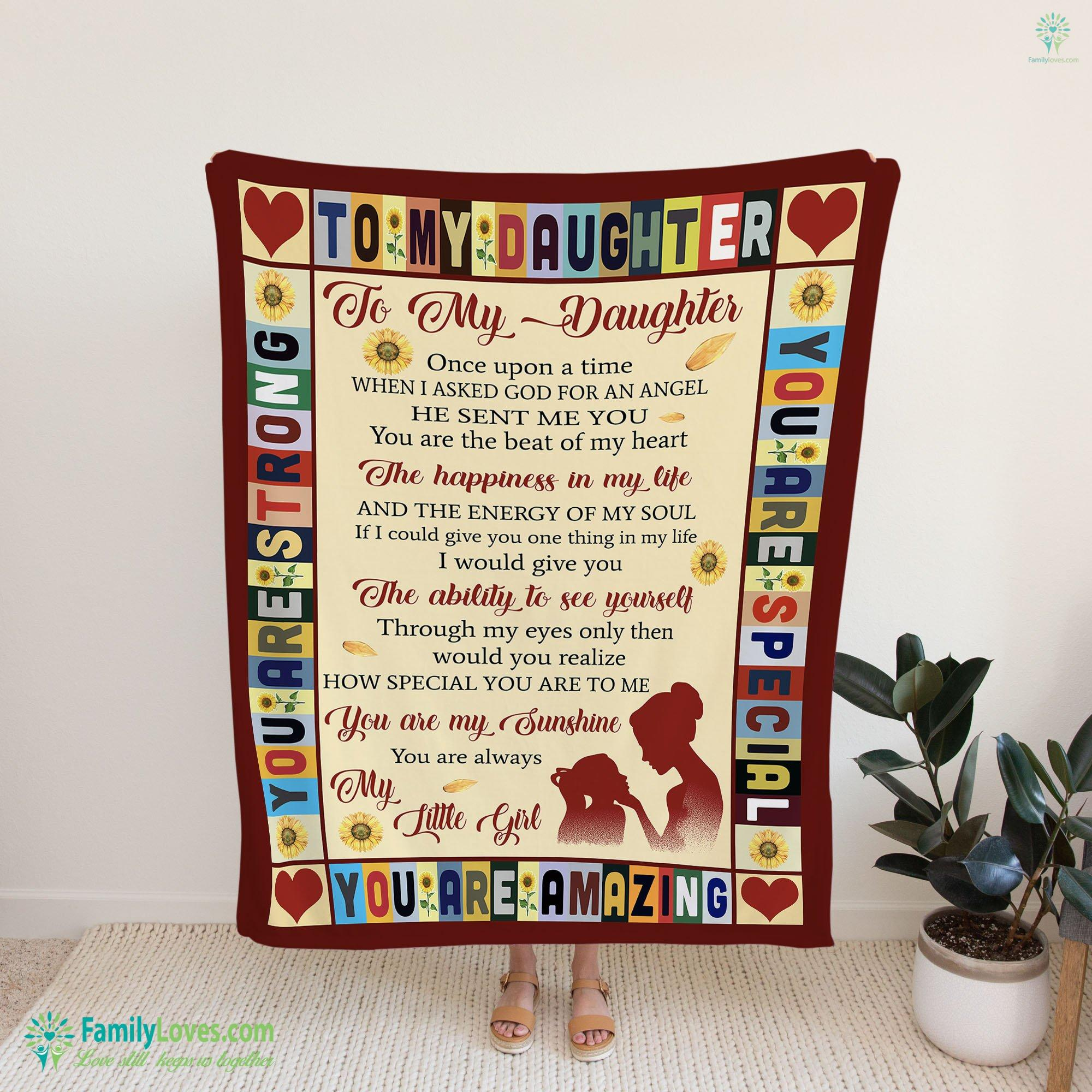 To My Daughter Once Upon A Time Blanket 4 Familyloves.com