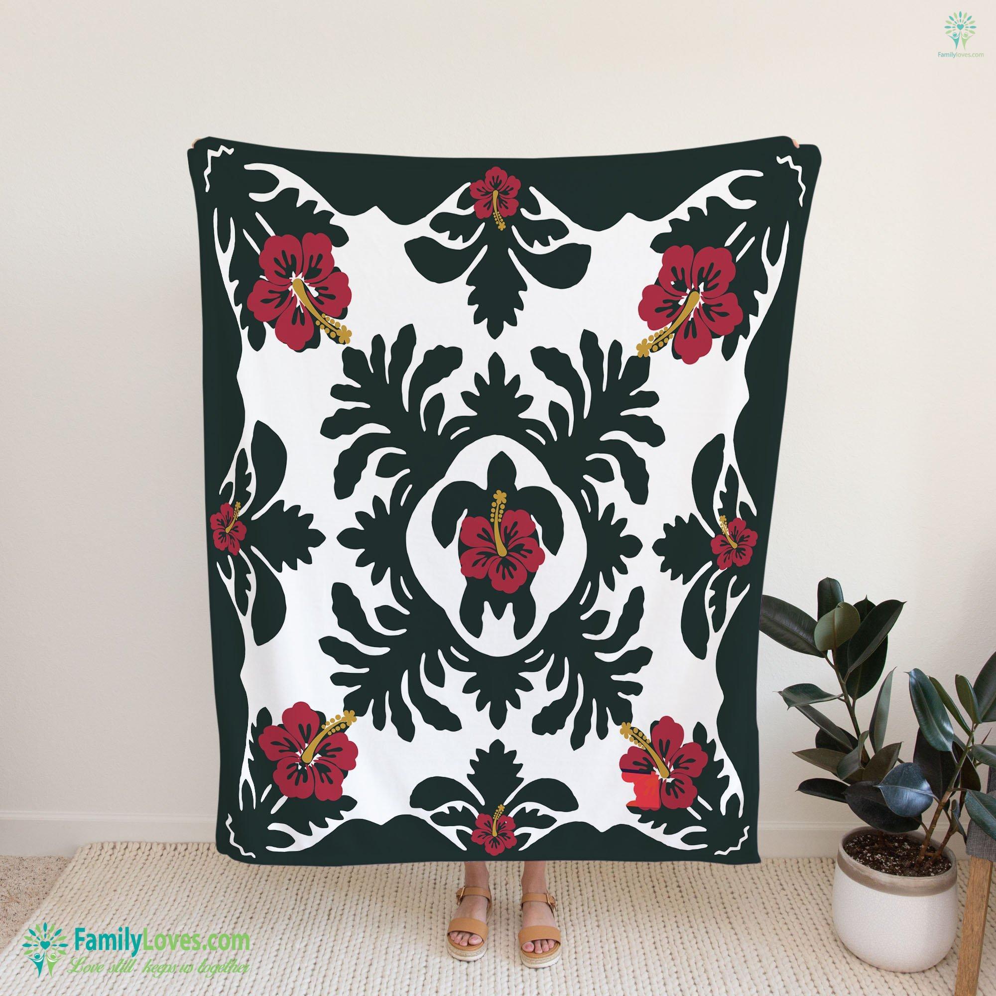 Turtle Hawaiian Blanket 20 Familyloves.com