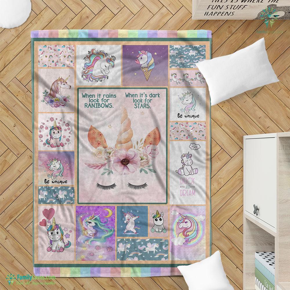 Unicorn Blanket 7 Familyloves.com