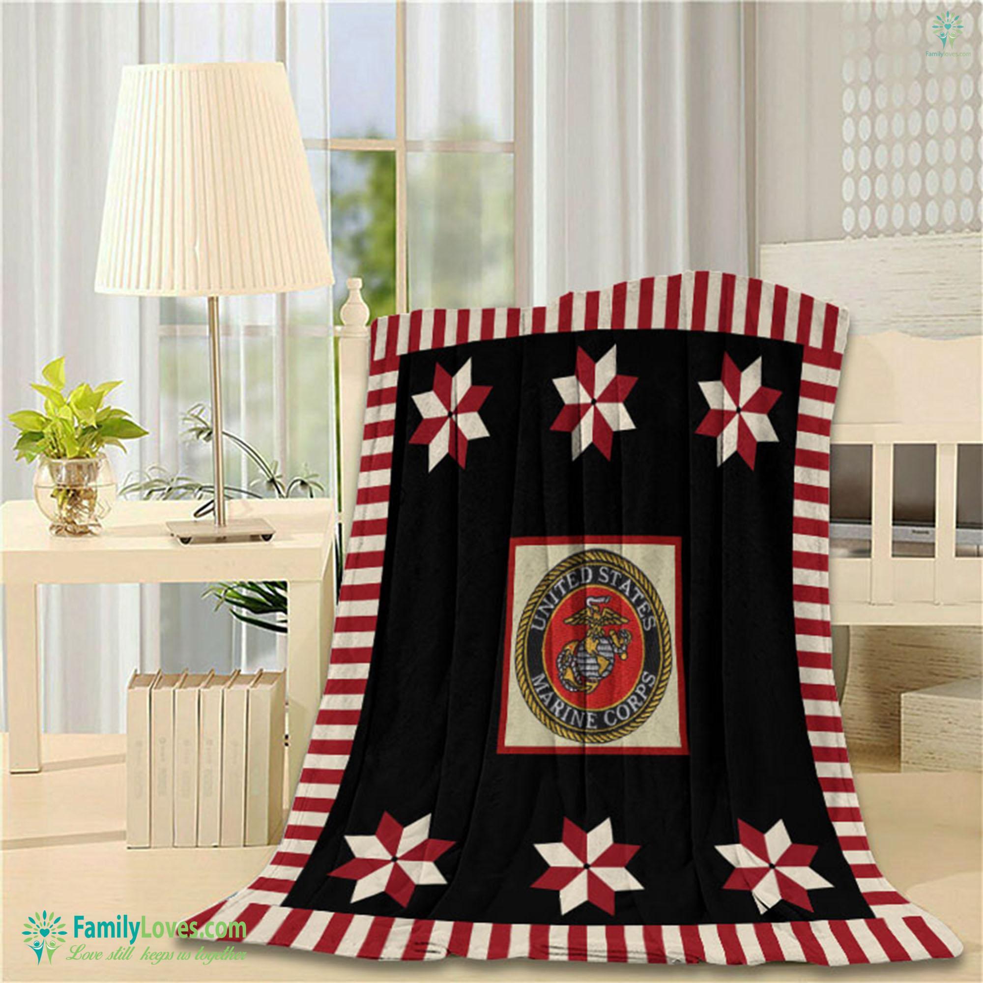 Us Marine Blanket 14 Familyloves.com