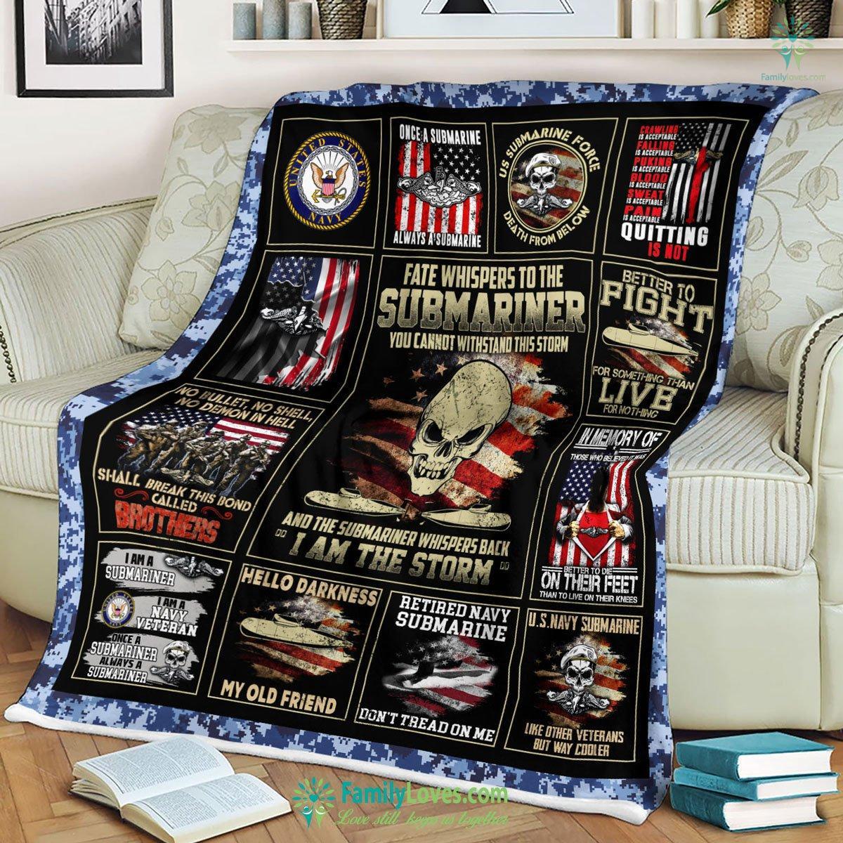 Us Navy Submarine D Printing Ntt Qhn Blanket 17 Familyloves.com