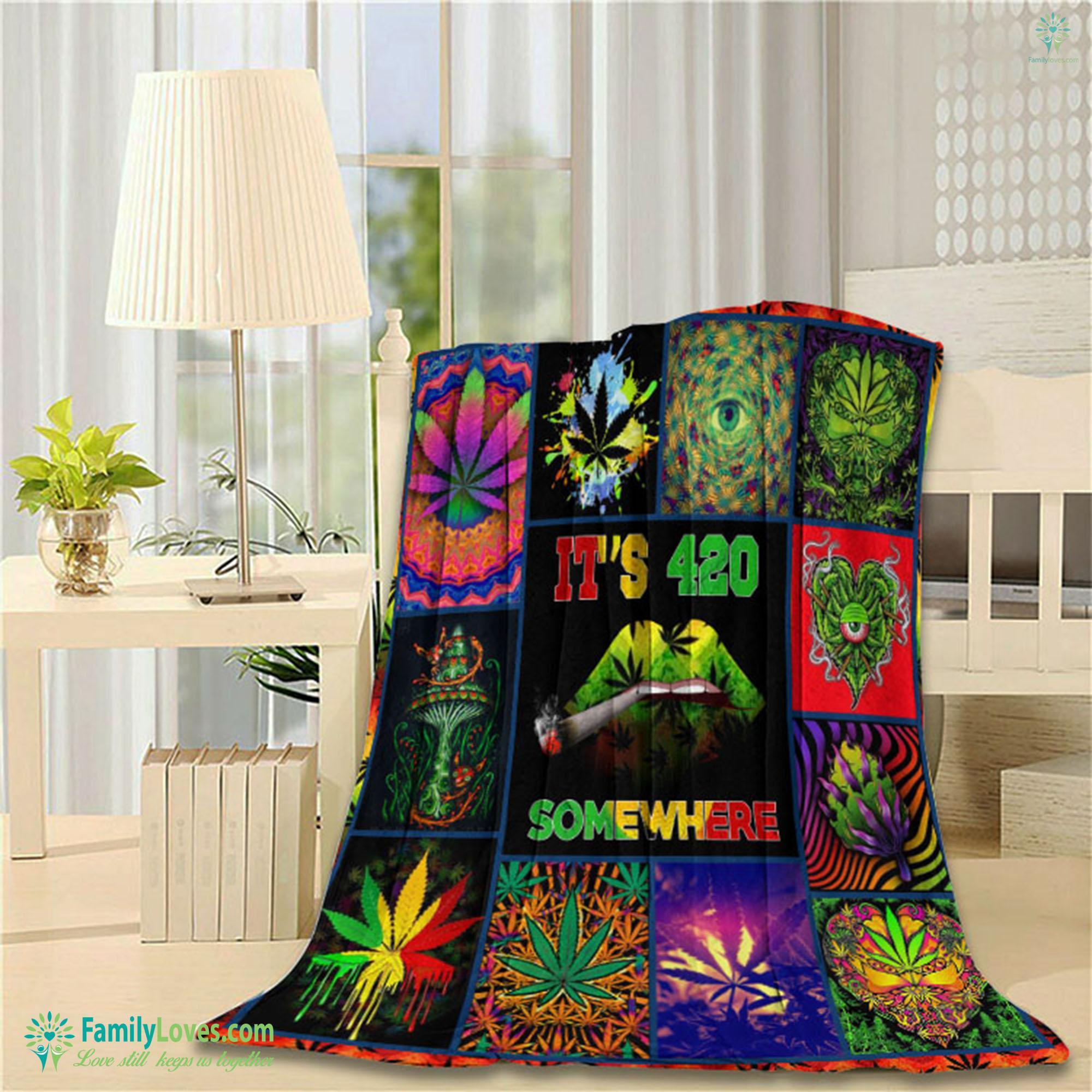 Weed D Full Printing Txh Qdt Blanket 12 Familyloves.com