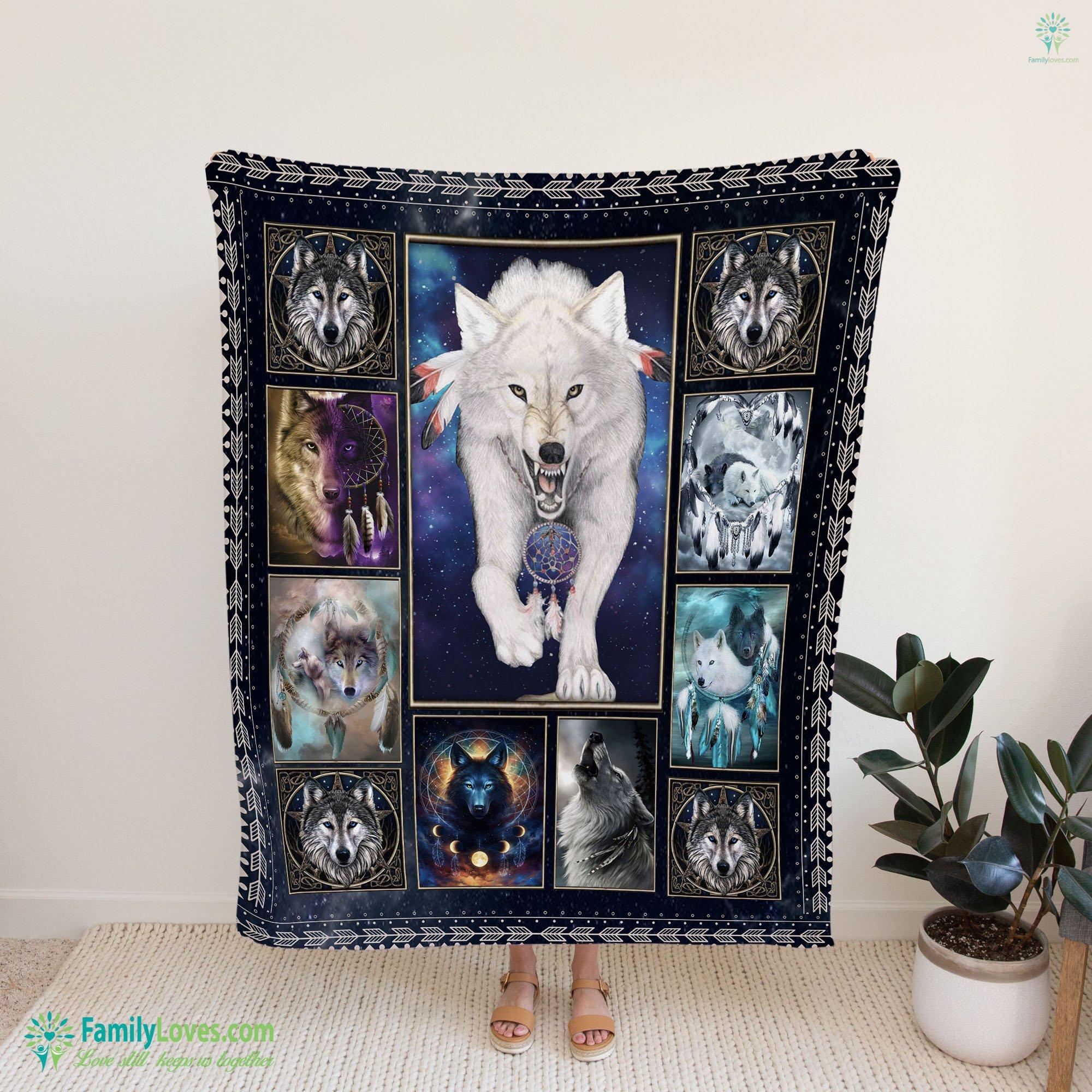 Wolf Native Blanket 15 Familyloves.com