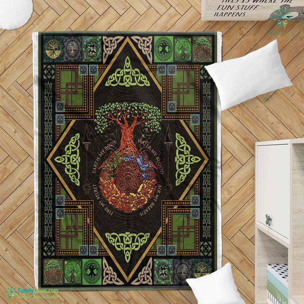 Yggdrasil Tree Of Life Blanket 11 Familyloves.com