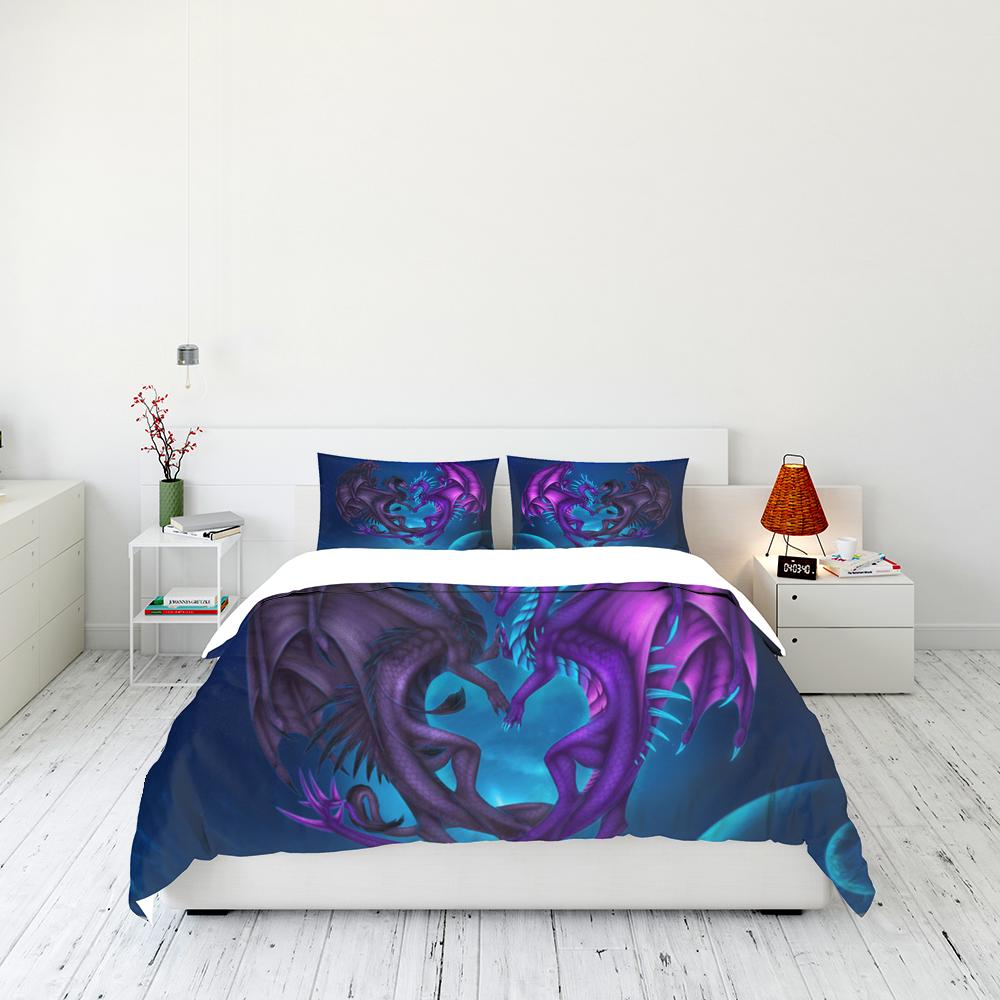 Dragon Couple Dreamcatcher Bedding Set Familyloves.com