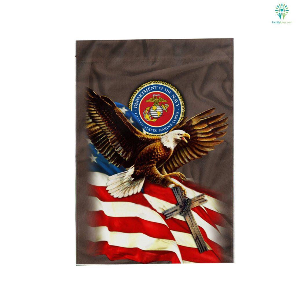 United States Marine American Eagle Garden Flag Familyloves.com