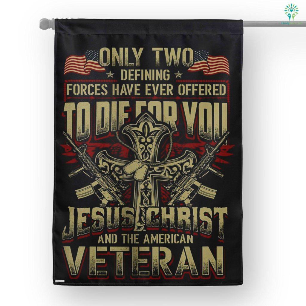 Veteran Defining Forces House Flag Familyloves.com