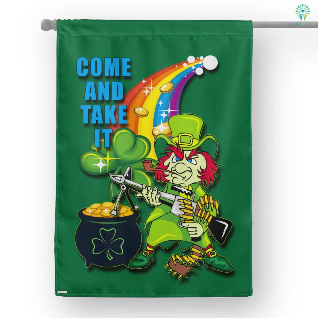 Come And Take It Leprechaun House Flag  House Flag- Nichefamily.com
