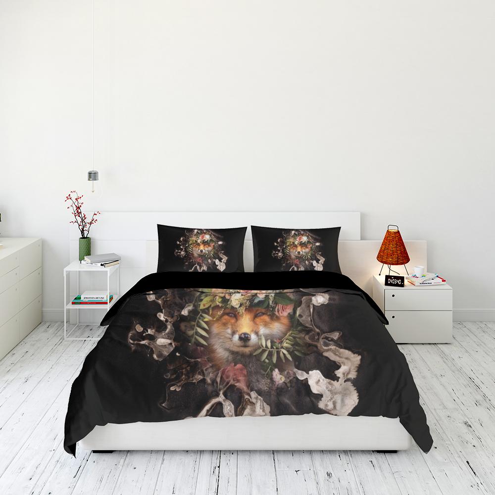 Flower Fox Bedding Set Familyloves.com
