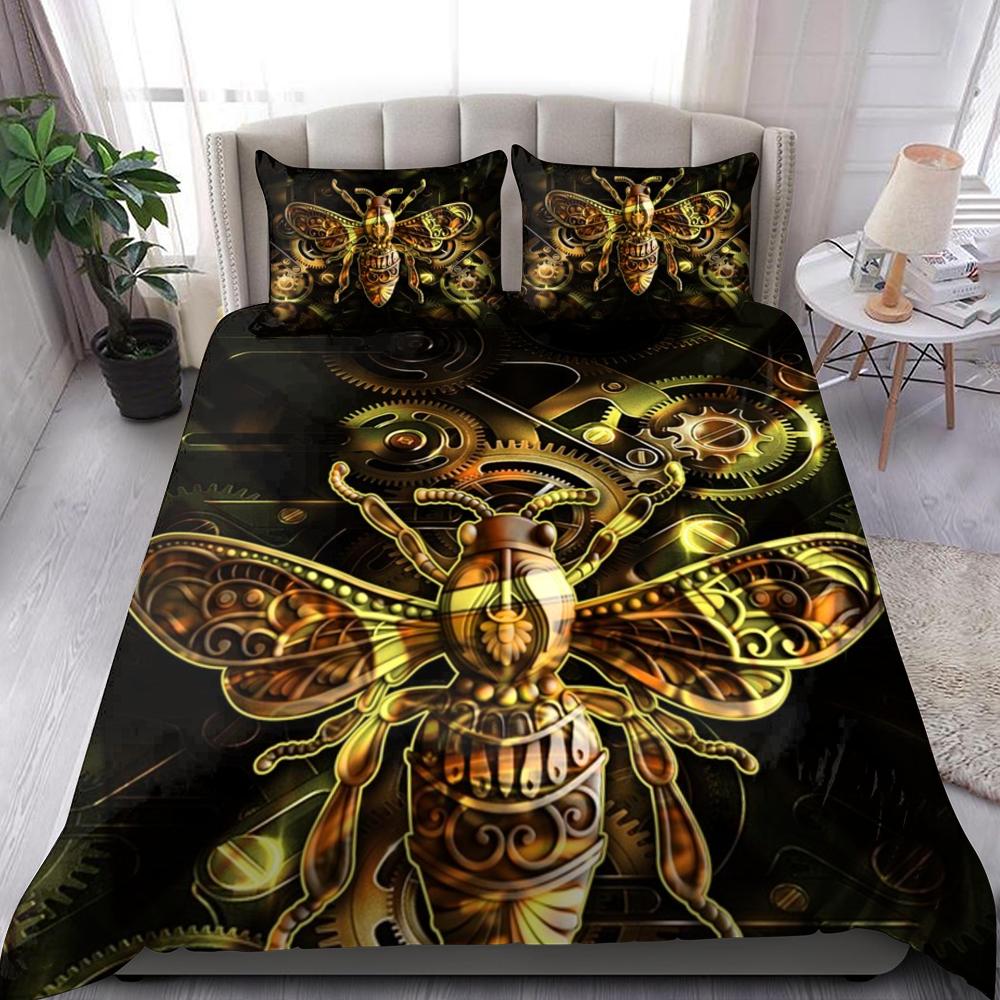 Metal Bee Bedding Set Familyloves.com