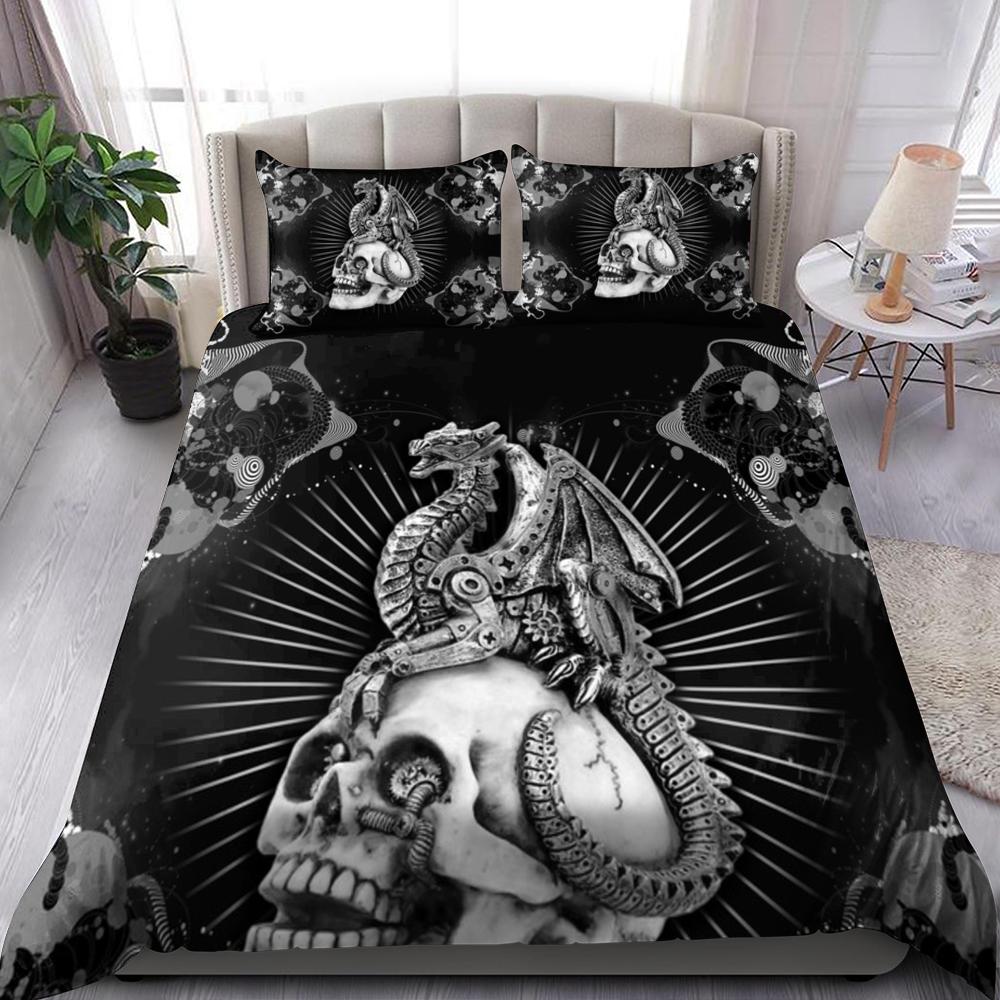 Dragon And Skull Bedding Set Familyloves.com