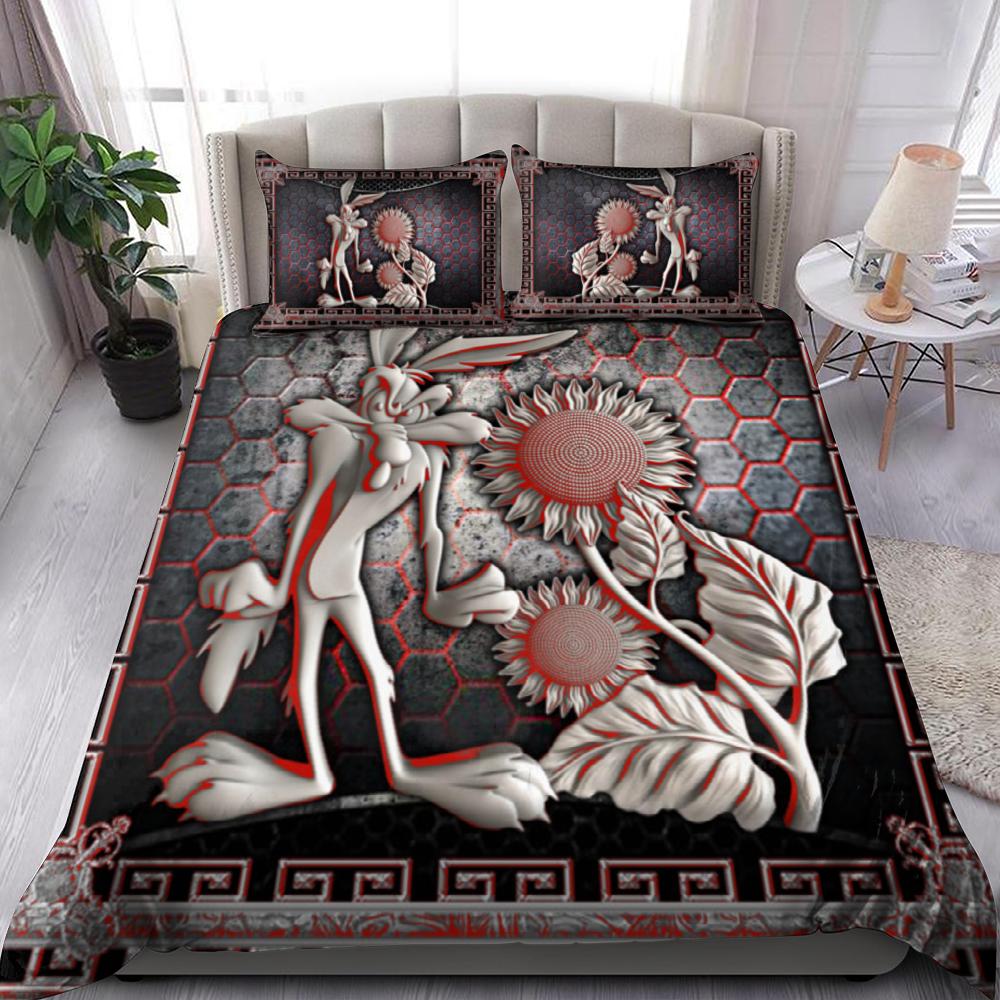 Sunflower And Rabbit Bedding Set Familyloves.com