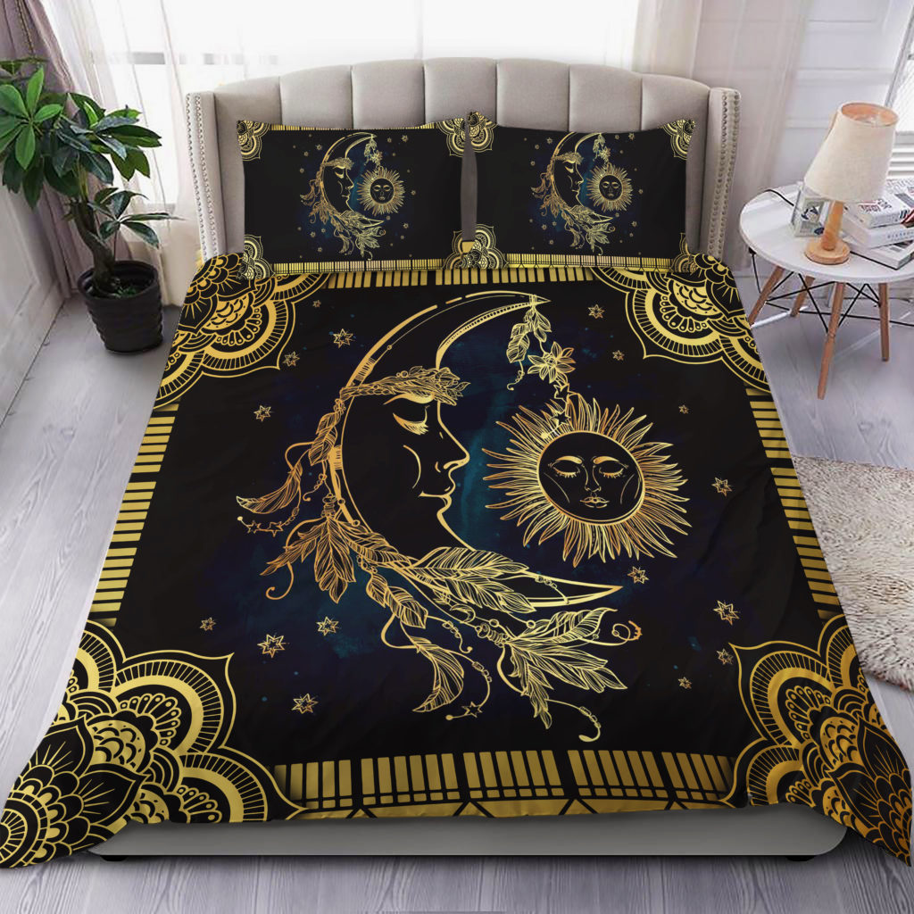 Sun And Moon Mandala Bedding Set Familyloves.com